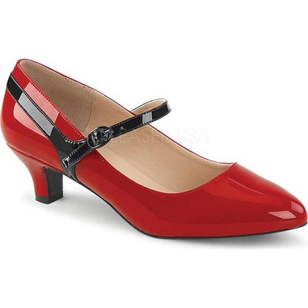 a09a901fc3 Shop Pleaser Pink Label Women's Fab 425 Mary Jane Pump Red/Black Patent  Leather - Free Shipping Today - Overstock.com - 17734181