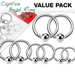 Value Pack 4 Pairs Annealed Surgical Steel Captive Bead Rings|https://ak1.ostkcdn.com/images/products/is/images/direct/ff8604a0ccce661e088de60e961cafb05dc46112/Value-Pack-4-Pairs-Annealed-Surgical-Steel-Captive-Bead-Rings.jpg?impolicy=medium