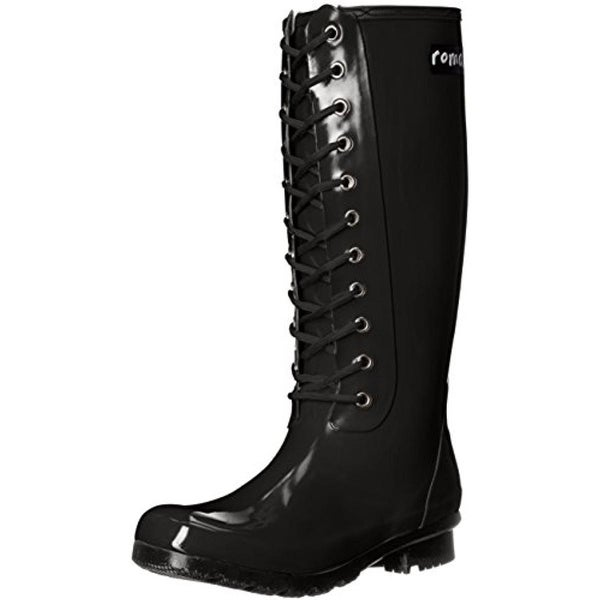 Roma Womens Opinca Rain Boots Rubber Lace-Up