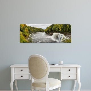 Easy Art Prints Panoramic Image 'Waterfall, Tahquamenon Falls, Chippewa County, Michigan' Canvas Art