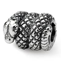 Sterling Silver Reflections Snake Bead (4mm Diameter Hole)