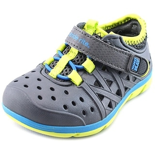 Stride Rite M2P Phibian Toddler Round Toe Synthetic Gray Sneakers