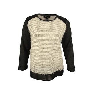 Style & Co. Women's Eyelash Pullover Sweater - Deep Black