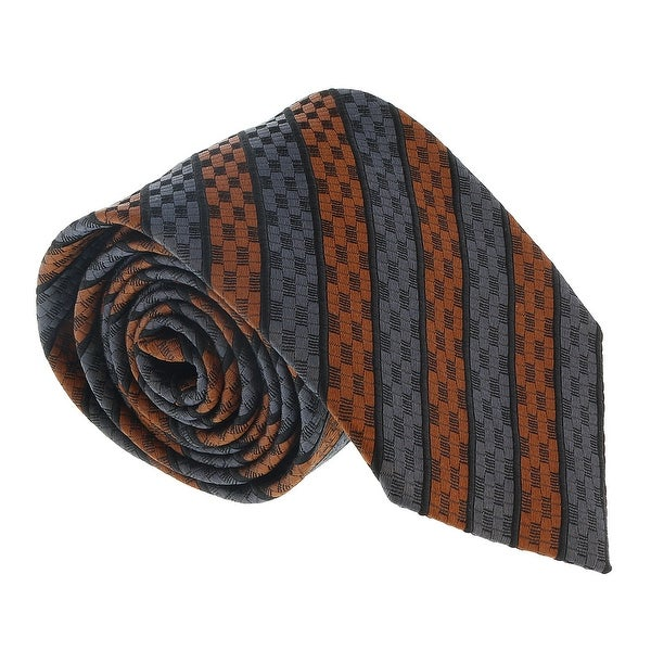 4e2ac495f5218 Shop Ermenegildo Zegna Pink Geometric Stripe Tie - 60-3 - Free Shipping  Today - Overstock - 21591778