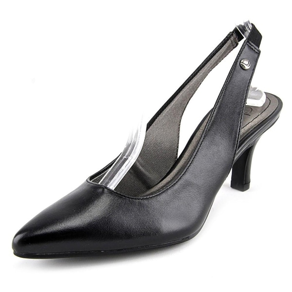 Life Stride Shena Women Pointed Toe Synthetic Black Slingback Heel