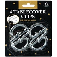Clear Plastic - Tablecover Clips 4/Pkg