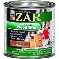 ZAR 11106 Interior Oil-Based Wood Stain, Walnut, 1/2 Pint