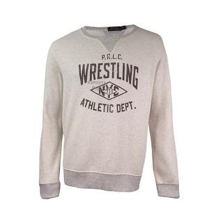 Polo Ralph Lauren Men's Graphic-Print Fleece Sweatshirt (XL, Newport Heather)