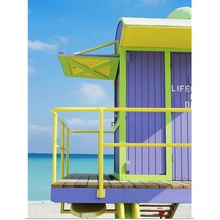 """Lifeguard tower on beach, close-up"" Poster Print"