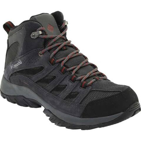 Columbia Men's Crestwood Mid Waterproof Hiker Dark Grey/Deep Rust