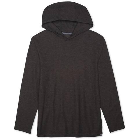 Levi's Mens Textured Knit Hoodie Sweatshirt, Grey, Medium