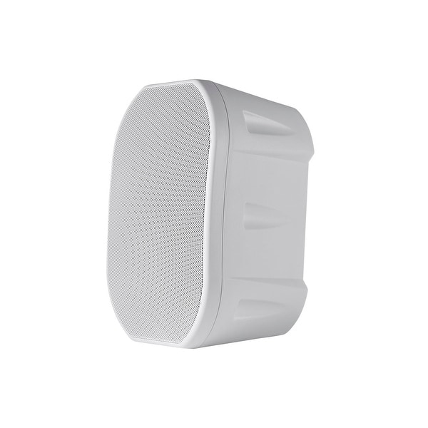 Monoprice 6.5-inch Weatherproof 2-Way Speakers with Wall Mount Bracket (Pair White)