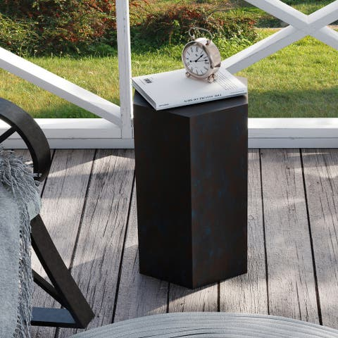 COSIEST Indoor&Outdoor Accent Table Concrete Hexagonal Shape Plant Stand