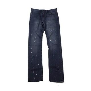 Calvin Klein Jeans Night Sky Slim-Straight Paint Splattered Jeans 34