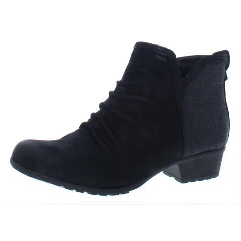 Rockport Womens Gratasha Panel Ankle Boots Nubuck Comfort Insole - Black