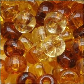Czech Seed Beads 6/0 ''Tortoise'' Mix Brown Beige (1 Ounce)