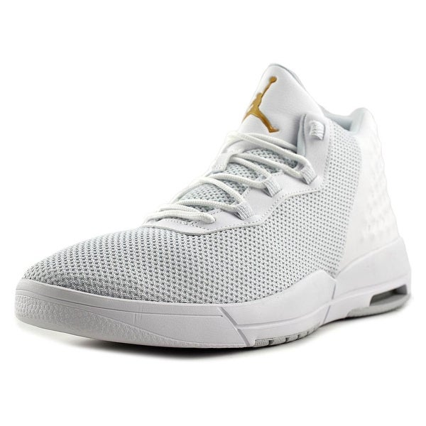 Jordan Academy Men White/Mtlc Gold Coin-Pr Pltnm Basketball Shoes
