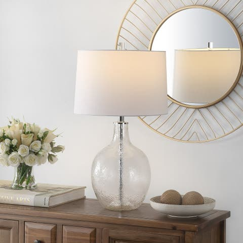 "Safavieh Lighting 26-inch Nadine Glass Table Lamp - 15"" x 15"" x 26"""