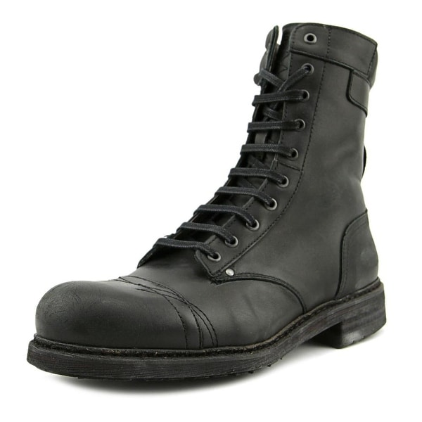 Diesel Cassidy Men Round Toe Leather Black Boot