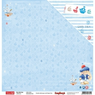 """Scrapberry's My Little Star Double-Sided Cardstock 12""""X12""""-Little Sailor"""