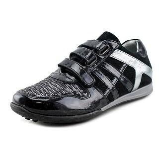 Walk Safari 2640B Youth Round Toe Synthetic Black Sneakers