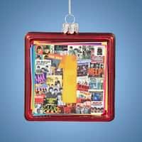 "3.5"" The Beatles Glass No. 1 Album Cover Decorative Christmas Ornament - RED"