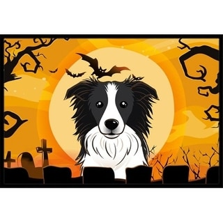 Carolines Treasures BB1799MAT Halloween Border Collie Indoor & Outdoor Mat 18 x 27 in.