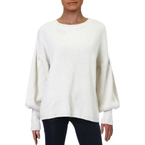 RD Style Womens Pullover Sweater Open Stitch Crew Neck