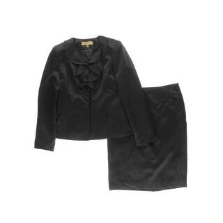 Kasper Womens Skirt Suit 2PC Sateen
