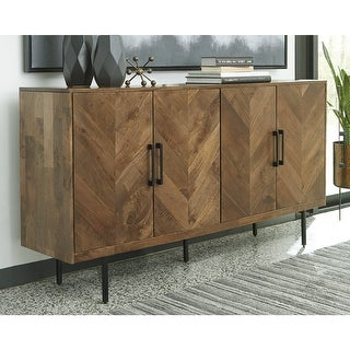 """Link to Prattville Brown Accent Cabinet - 68""""W x 16""""D x 36""""H Similar Items in Living Room Furniture"""