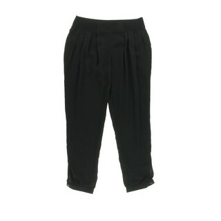 Zara Basic Womens Pleated Stretch Panel Capri Pants - M