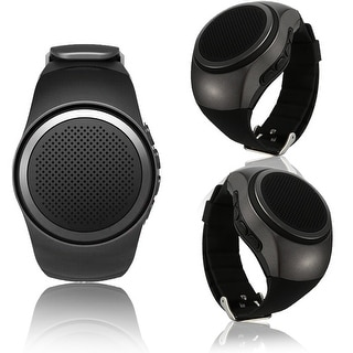 Indigi® B20 Rugged and Durable Bluetooth Wrist Speaker for iOS and Android + Remote shutter button + FM Radio (Black)