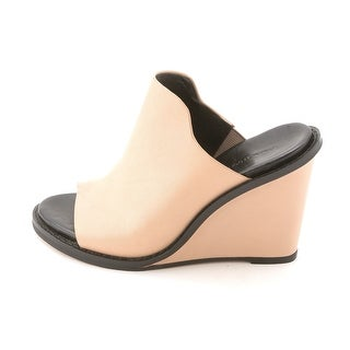 French Connection Womens PANDRA Leather Open Toe Mules