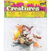 "Darice 1029-02 2"" Plastic Creatures Jungle Dogs - 12 Piece/Pack"