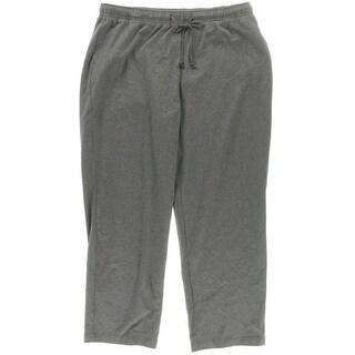 Karen Scott Womens Drawstring Heathered Lounge Pants - XL