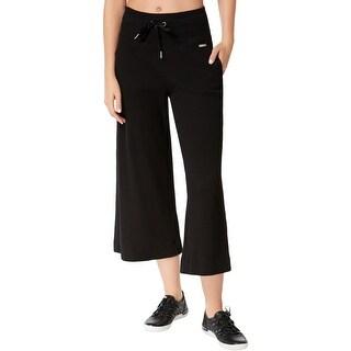 Calvin Klein Performance Womens Capri Pants Thermal Wide Leg