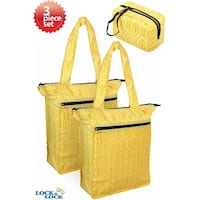 Lock & Lock Retro Tote Insulated Cooler Grocery Bags