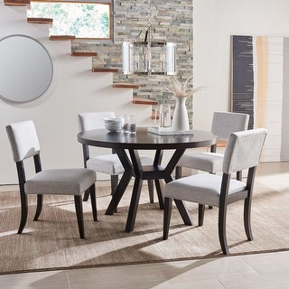 "Link to Safavieh Couture Luis Round Wood Dining Table - 47.5"" W x 47.5"" L x 30"" H Similar Items in Dining Room & Bar Furniture"