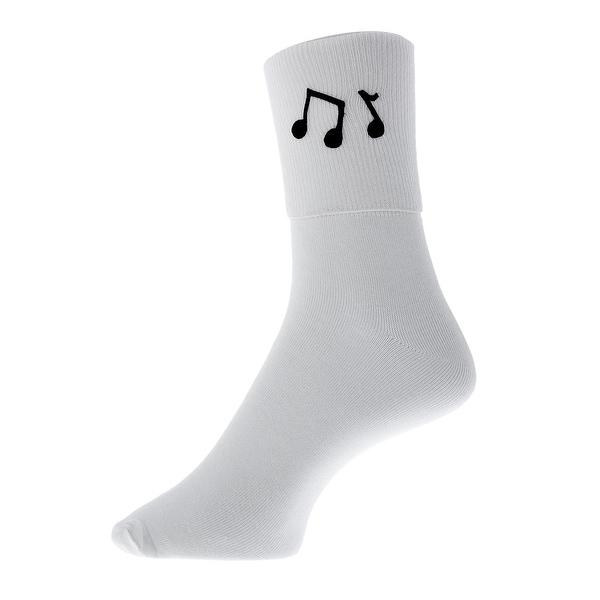 Music Notes Bobby Socks for Girls