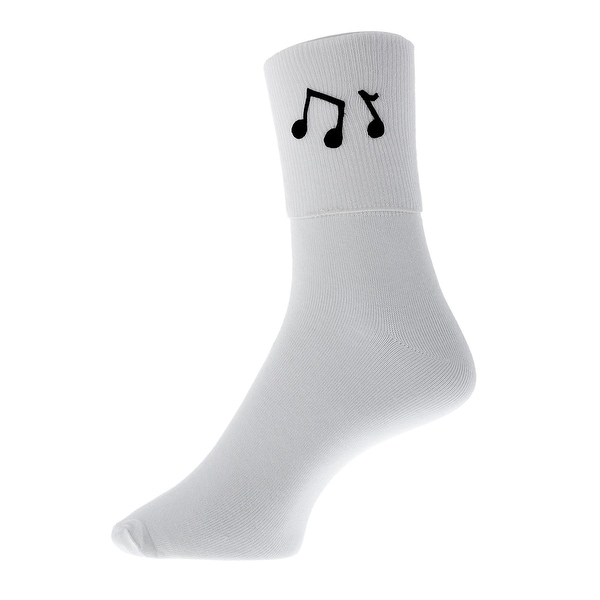 Music Notes Bobby Socks for Ladies