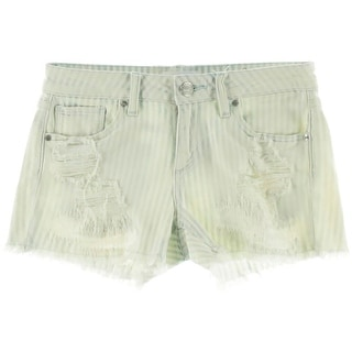 Greywire Womens Striped Destroyed Cutoff Shorts - 25