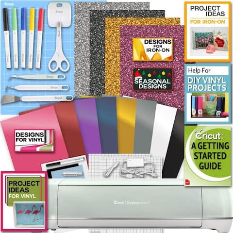 Cricut Explore Air 2 Machine Bundle Iron On Vinyl Pack Tools Pen Design Guide