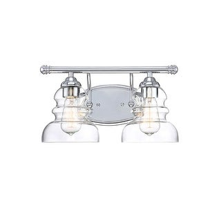 "Millennium Lighting 7332 Brighton 2 Light 15"" Wide Bathroom Vanity Light with Glass Shades (3 options available)"