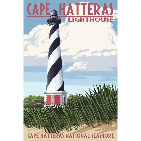 Outer Banks NC Cape Hatteras Lighthouse LP Artwork (100% Cotton Towel Absorbent)
