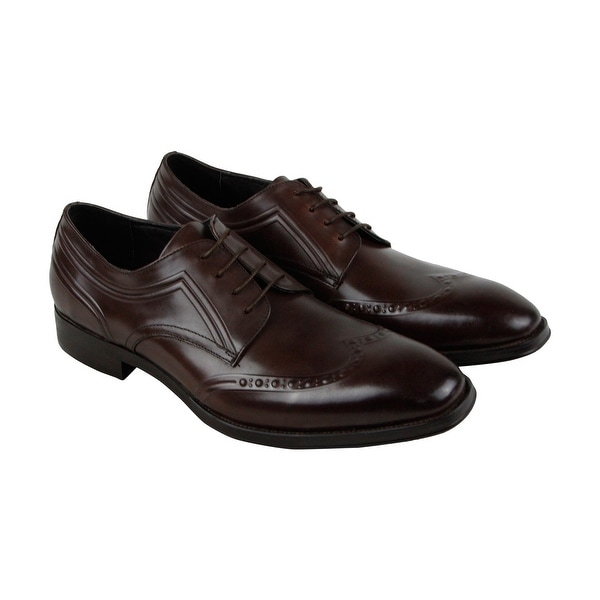 Kenneth Cole New York Change It Up Mens Brown Leather Casual Dress Oxfords Shoes