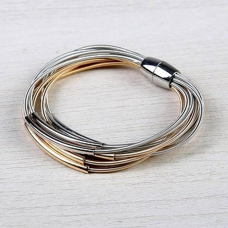 Mad Style Rose Gold/Silver Kendra Harp Bracelet - rose gold