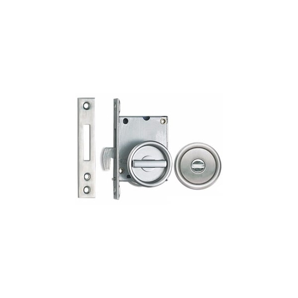 Sugatsune HC 30 Privacy Sliding Door Latch With Thumbturn And Coin Turn  Release   STAINLESS