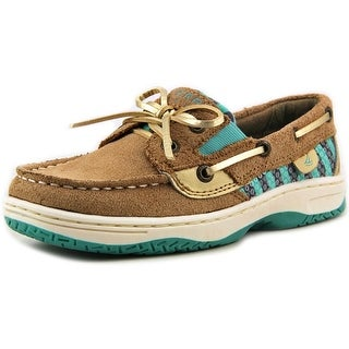 Sperry Top Sider Butterflyfish Youth Moc Toe Leather Brown Boat Shoe