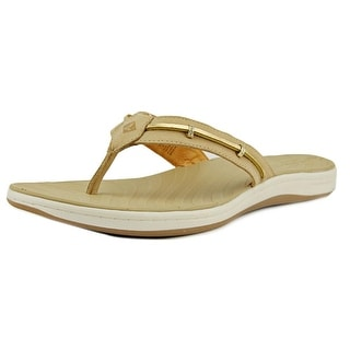 Sperry Top Sider Seabrook Wave Women Open Toe Leather Tan Thong Sandal