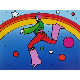 Cosmic Jumper DetaiI II, Ltd Ed Lithograph, Peter Max